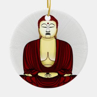 Drawing of Buddha Ceramic Ornament