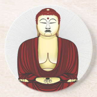 Drawing of Buddha Drink Coaster