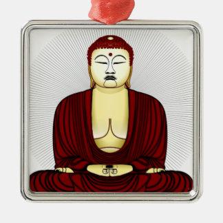 Drawing of Buddha Metal Ornament