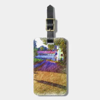 Drawing of Building Luggage Tag