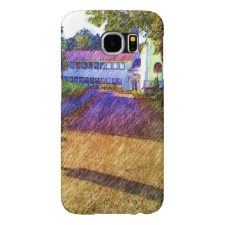 Drawing of Building Samsung Galaxy S6 Case