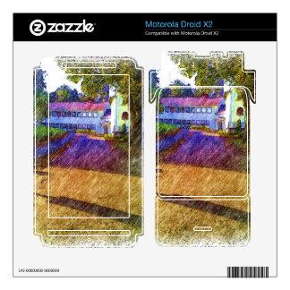 Drawing of Building Motorola Droid X2 Skin