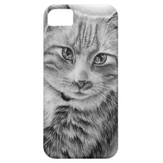 Drawing of Cat Black and White Animal Art iPhone SE/5/5s Case
