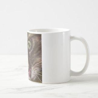 Drawing of Cat Close Up on Mug