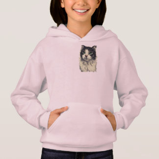 Drawing of Cat With Green Eyes on Sweater