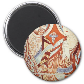 Drawing of Central Asian Buddhist Monks Magnet
