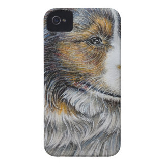 Drawing of Collie Dog Animal Art iPhone 4 Cover