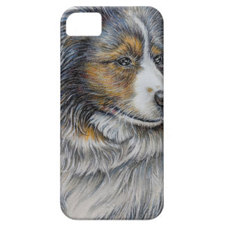 Drawing of Collie Dog Animal Art iPhone SE/5/5s Case