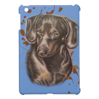 Drawing of Dachshund Dog Art and Paint iPad Mini Cover