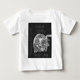 Drawing of Dog Drinking in Chalk Baby T-Shirt