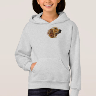 Drawing of Golden Retriever on Sweater