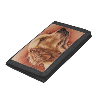 Drawing of Golden Retriever on Wallet