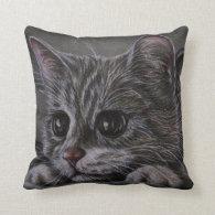 Drawing of Kitten on Pillow