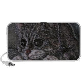 Drawing of Kitten on Speaker