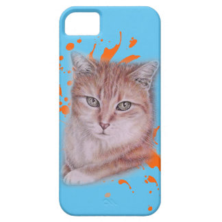 Drawing of Orange Tabby Cat and Paint iPhone SE/5/5s Case