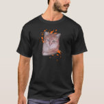 Drawing of Orange Tabby Cat and Paint T-Shirt