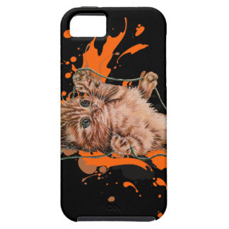 Drawing of Orange Tabby Cat Kitten and Paint iPhone SE/5/5s Case