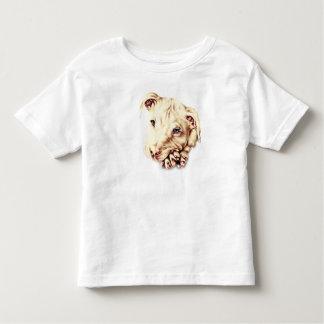 Drawing of Pitbull on Toddler Shirt