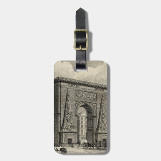Drawing of Porte Saint-Denis Monument Tags For Luggage