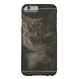 Drawing of Sleepy Cat on Phone Case Barely There iPhone 6 Case