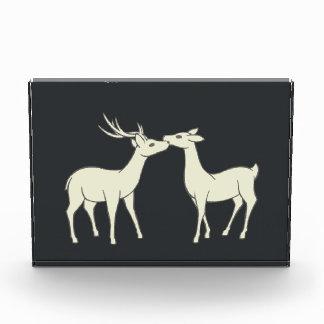 Drawing Of Sweet Deer Couple Acrylic Award
