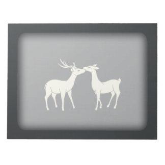 Drawing Of Sweet Deer Couple Memo Note Pads