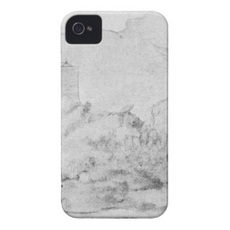 Drawing of the castles of Alsacien Ortenberg iPhone 4 Case-Mate Case