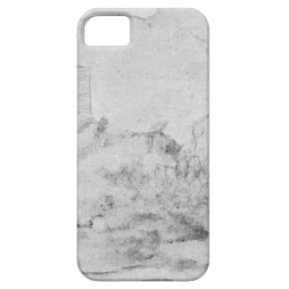 Drawing of the castles of Alsacien Ortenberg iPhone SE/5/5s Case