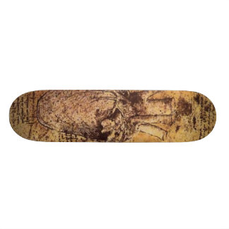 Drawing of the heart and its blood vessels skateboard deck