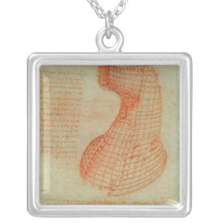 Drawing of the Ironwork Casting Mould Silver Plated Necklace