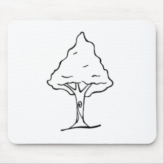 Drawing of tree to print and to paint mouse pad