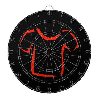 drawing of tshirt dartboard with darts