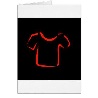 drawing of tshirt greeting card