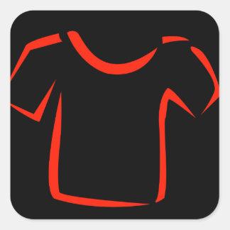 drawing of tshirt square sticker