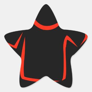 drawing of tshirt star sticker