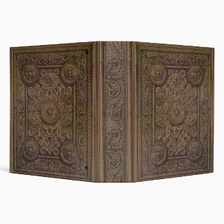 Drawing of Vintage Decorative Book Cover 3 Ring Binder