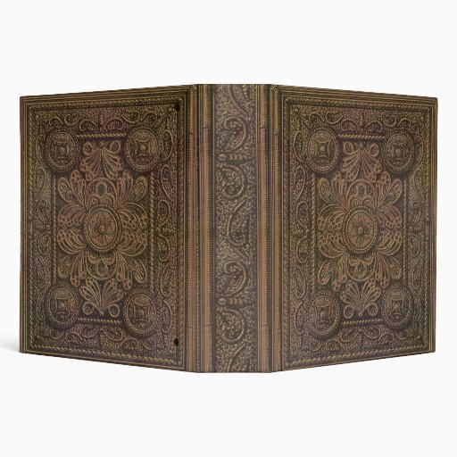 Drawing of Vintage Decorative Book Cover Binders