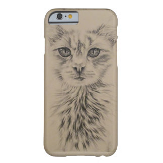 Drawing of White Cat on Phone Case Barely There iPhone 6 Case