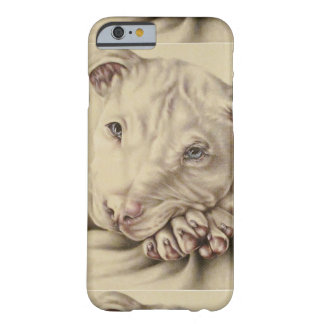 Drawing of White Pitbull on Phone Case Barely There iPhone 6 Case