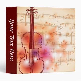 Drawing on watercolor background of violin vinyl binders
