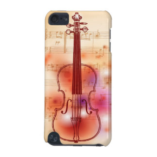 Drawing on watercolor background of violin iPod touch (5th generation) cover