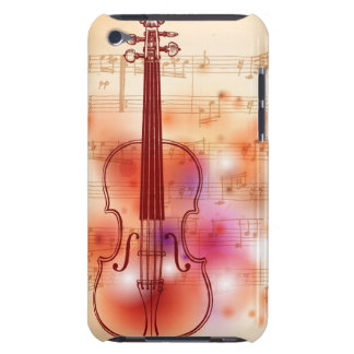 Drawing on watercolor background of violin iPod touch case