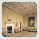 Drawing-room by Adam, c.1770-80 Square Sticker
