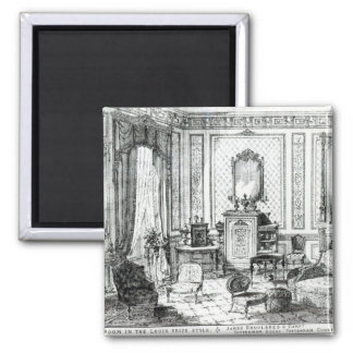 Drawing Room in the Louis Seize Style 2 Inch Square Magnet