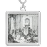 Drawing Room in the Louis Seize Style Square Pendant Necklace