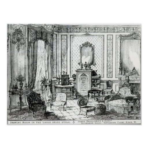 Drawing Room in the Louis Seize Style Poster