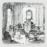 Drawing Room in the Louis Seize Style Square Sticker