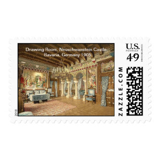 Drawing Room,Neuschwanstein Castle,Bavaria Germany Stamps