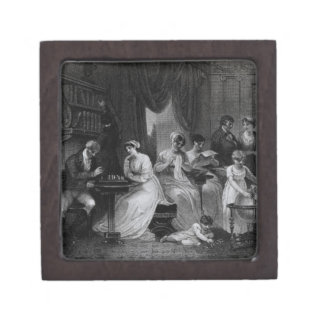 Drawing Room Scene, from 'The Social Day' by Peter Premium Keepsake Boxes