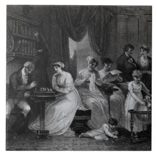 Drawing Room Scene, from 'The Social Day' by Peter Tile